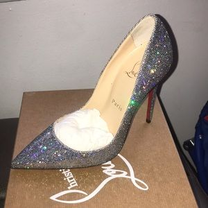 So late 120 glitter disco ball heel